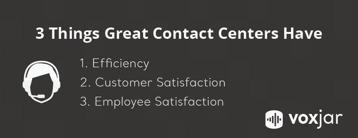 efficiency, customer satisfaction, employee satisfaction